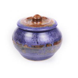 Purple Jar With Lid