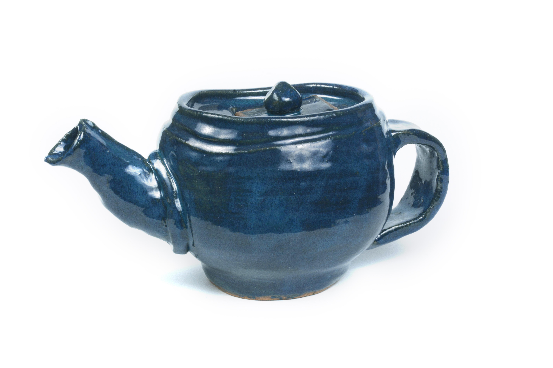 Blue Handbuilt Teapot