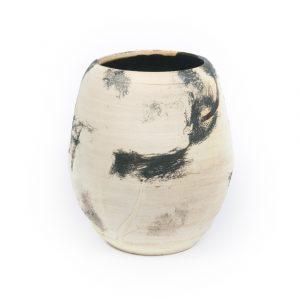 horse hair, pottery, handmade, vase, cat